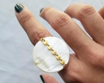 signet + stone rings