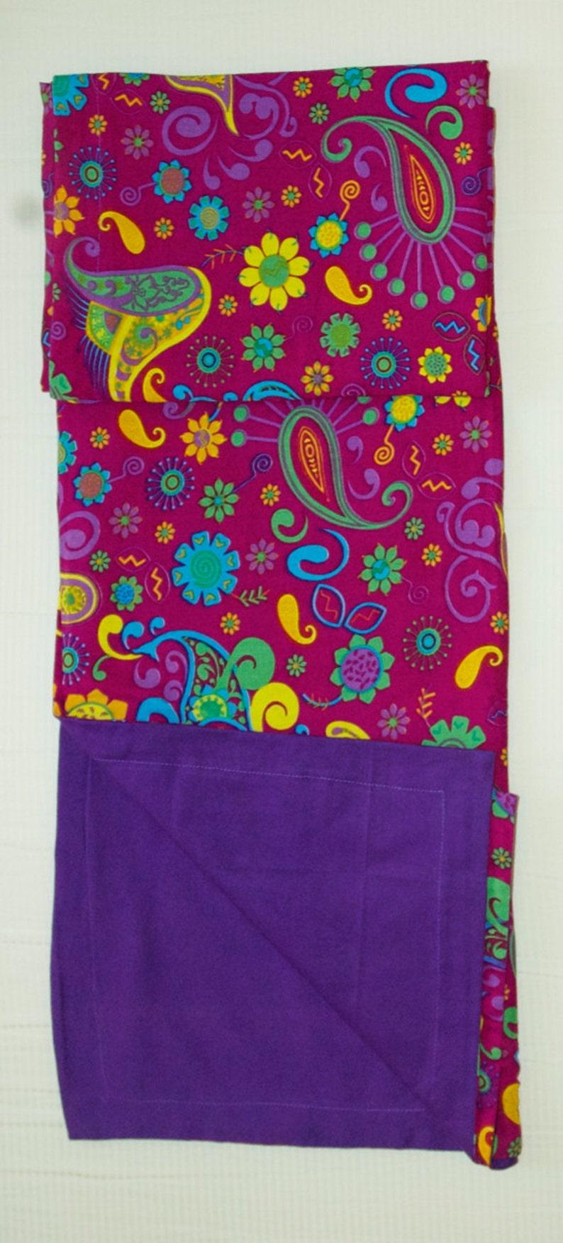 Blanket Fun Retro Purple Paisley Floor Blanket For Baby Girl ~ Cotton