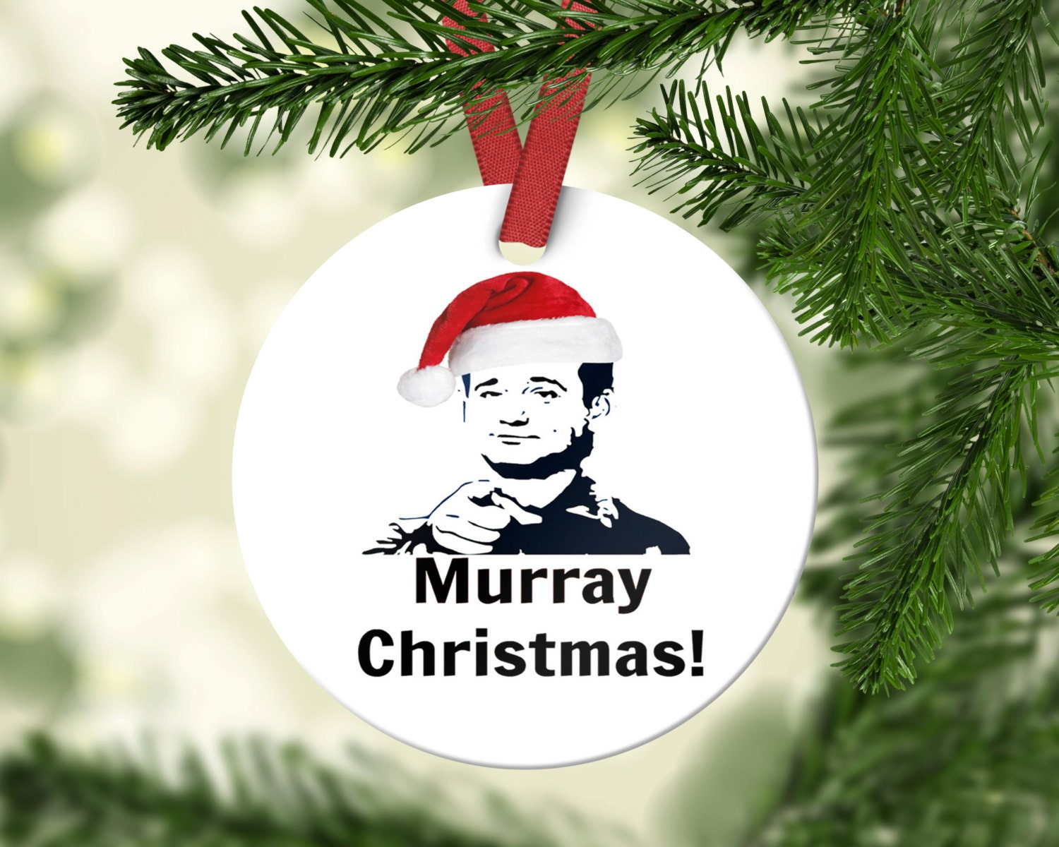 Bill Murray Ornament Bill Murray Pun Funny Tree Ornament | Etsy