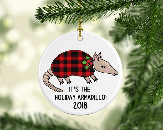Christmas Armadillo Friends.Holiday Armadillo Funny Christmas Ornament Gift For Friends Texas Lover 2019 Buffalo Plaid Ugly Sweater Hanukkah Personalized Customized