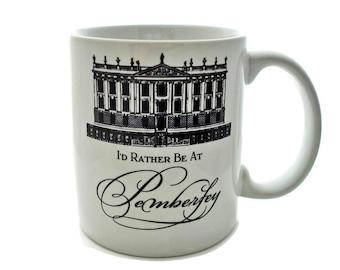 Jane Austen Gift, Jane Austen Mug, Pride and Prejudice Literary Mug Librarian Mug Gift for bookworm, Bookish Mug,  Pemberley Mug, Coffee Mug