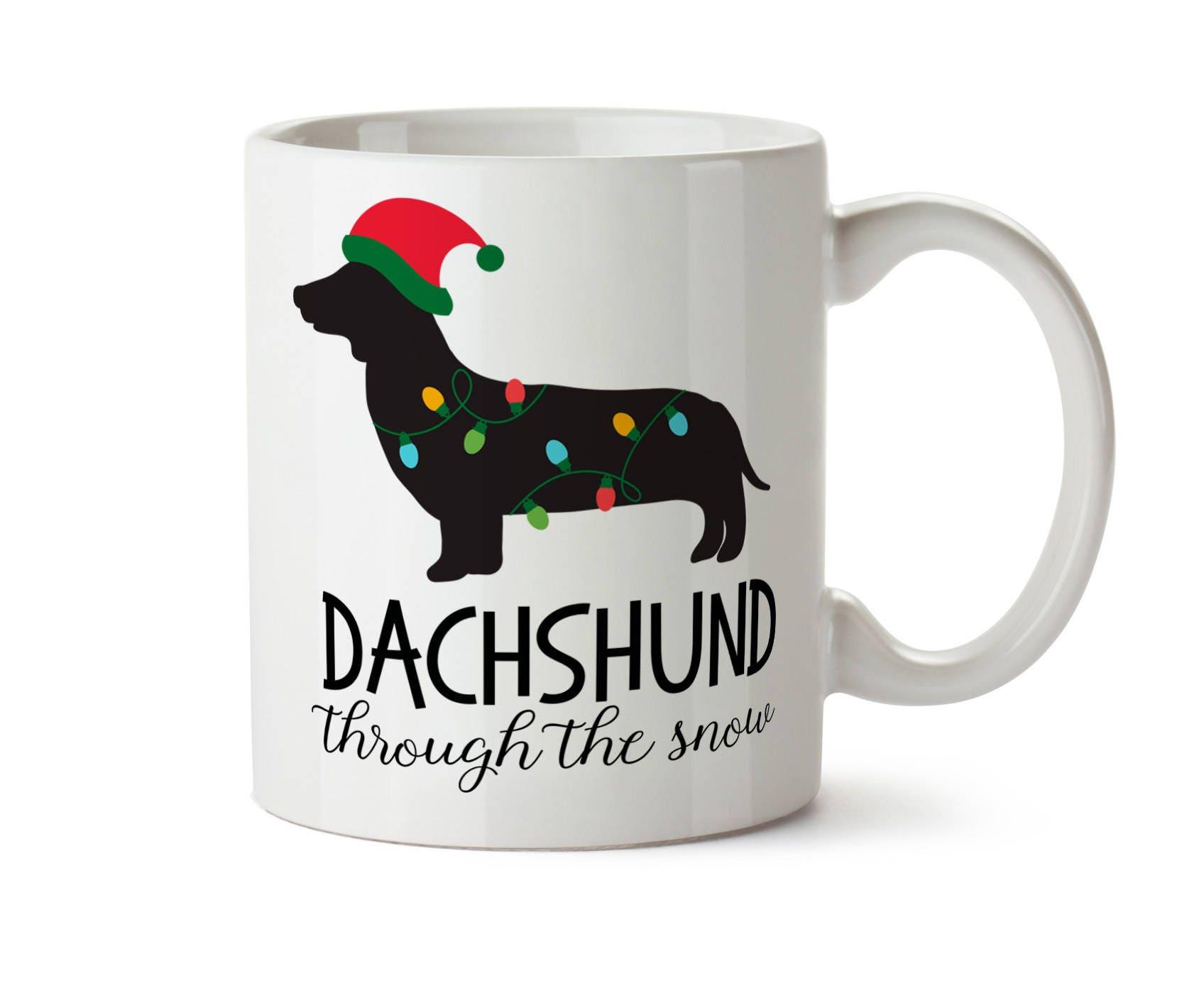 Dachshund Christmas Dachshund Coffee Mug Dachshund Holiday | Etsy