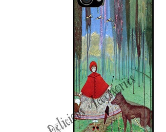 Case for Your Choice of Apple iPhone 4 / 4s / 5 / 6 / 6 Plus / 7 +  LITTLE RED RIDING Hood -  Rubber Silicone