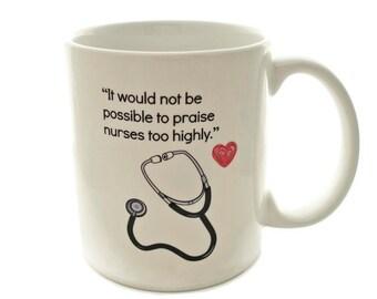 NURSE Gratitude Quote - 11 ounce Coffee Mug - Superb GIFT