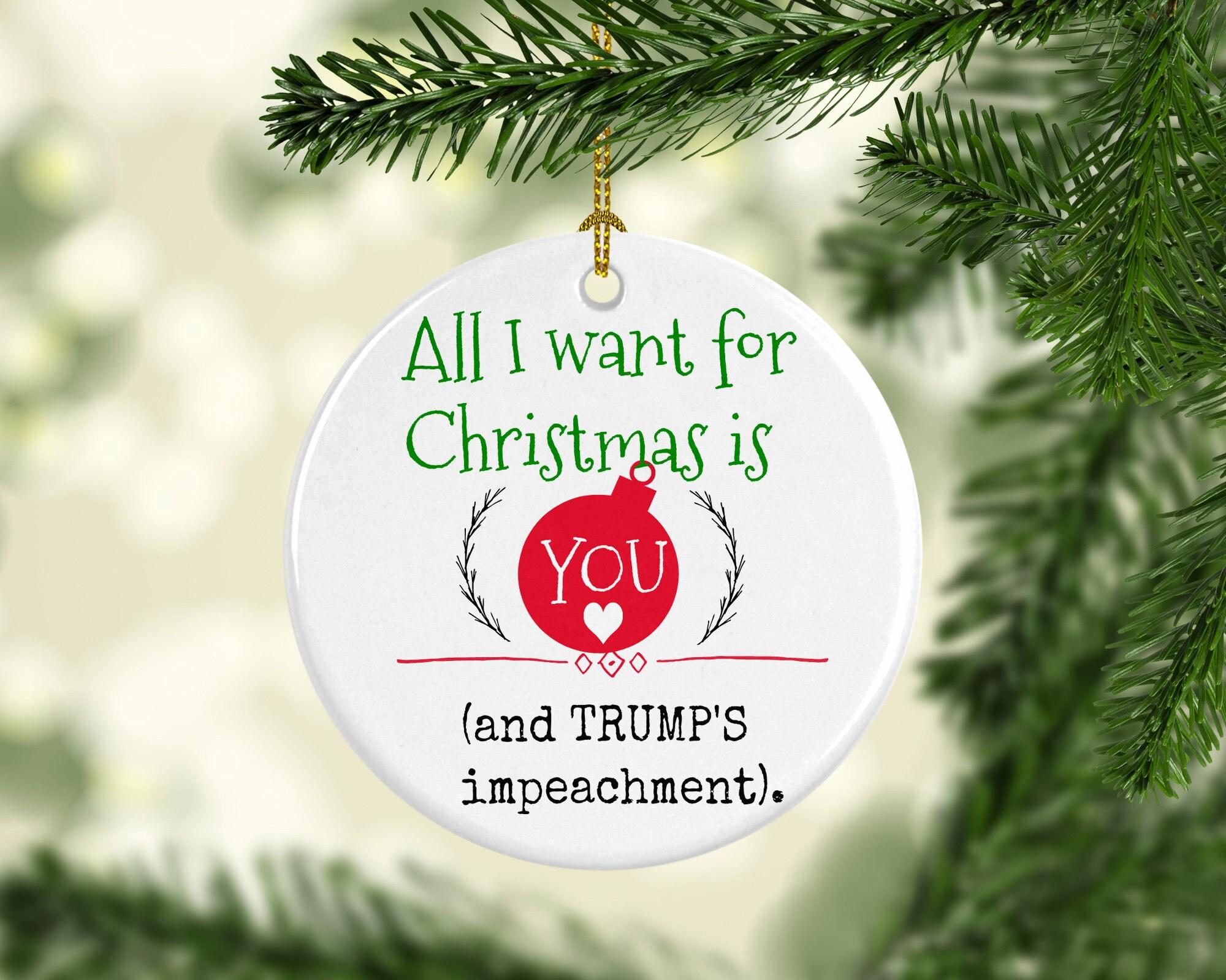 Trump Christmas Trump Ornament Impeach Trump Funny | Etsy
