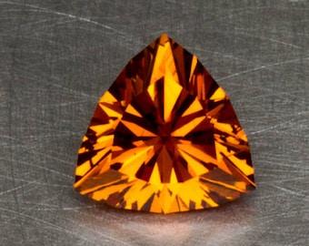 Vivid Orange Spessartite Garnet Natural Untreated Loose Gemstone in a Custom Faceted Trillion Design