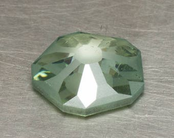 Moissanite Fancy Blue Green Loose Lab Created Conflict Free Floral Hanami Rose Cut Gemstone