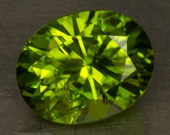 Bright Green Peridot Loose Natural Faceted Lightly Included Precision Cut Oval Olivine Gemstone
