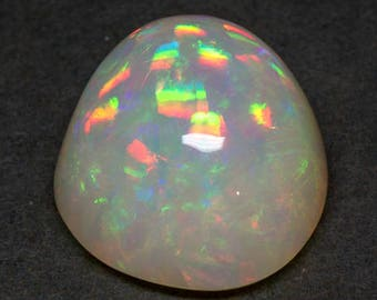Huge Natural Ethiopian Welo Opal With Tons of Rainbow Fire and Play of Color, Freeform Designer Cabochon Gemstone