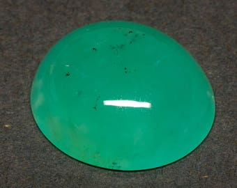 Chrysoprase Natural Untreated Vivid Green Perfect Oval Domed Designer Cabochon Gemstone