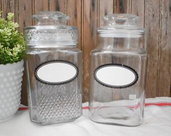 Vintage Jar Labels Etsy
