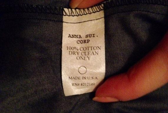 Vintage Anna Sui Denim Blazer - image 4