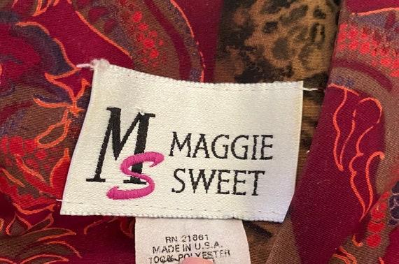 Vintage Maggie Sweet Dragon Print Blouse - image 3