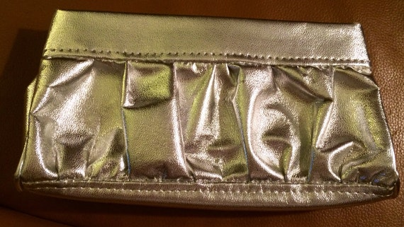 Vintage Scrunchie Silver Clutch