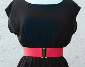 "2"" women's coral elastic waist belt, regular and plus size"