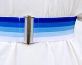 Sale - Blue ombre elastic...