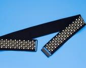 Embellished black cinch w...