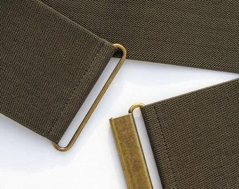 "3"" wide khaki green elastic waist belt for women, regular and plus size"