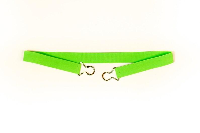 1 apple green elastic stretch belt  Women's cinch image 0