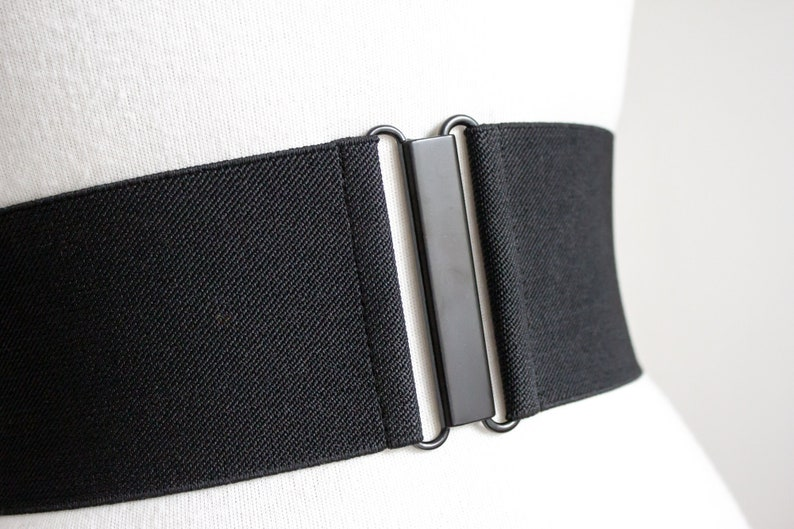 ae61fdc155f1c Black twill elastic waist belt for women wide stretch belt   Etsy