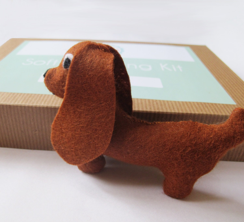 Hacer su propio Kit de costura fieltro juguete perro salchicha | Etsy