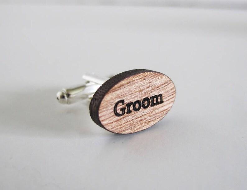 Engraved /'Groom/' Cufflinks