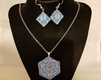 Jewelry set made from polymer clay
