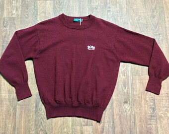eb9c44f71 Mens Original 1980s Vintage Burgundy Hugo Boss Sweater/Jumper Size Medium