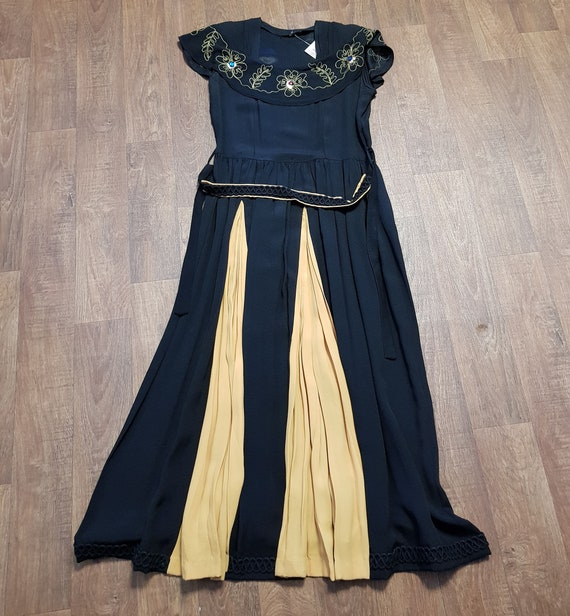 1930s Evening Dress | Stunning 1930s Vintage Black