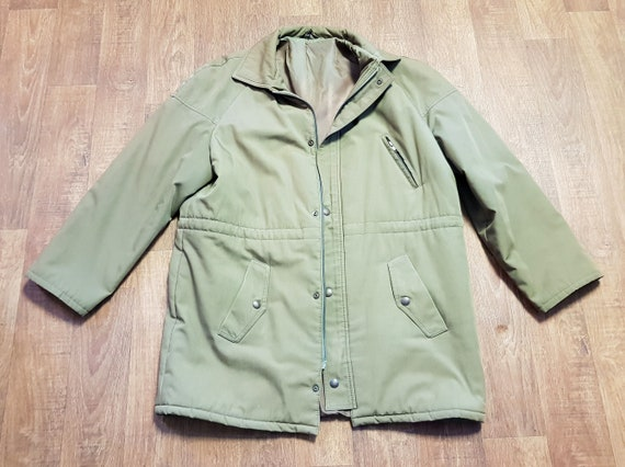 Mens Vintage Khaki Coat, Mens 1960s Vintage Dunn &
