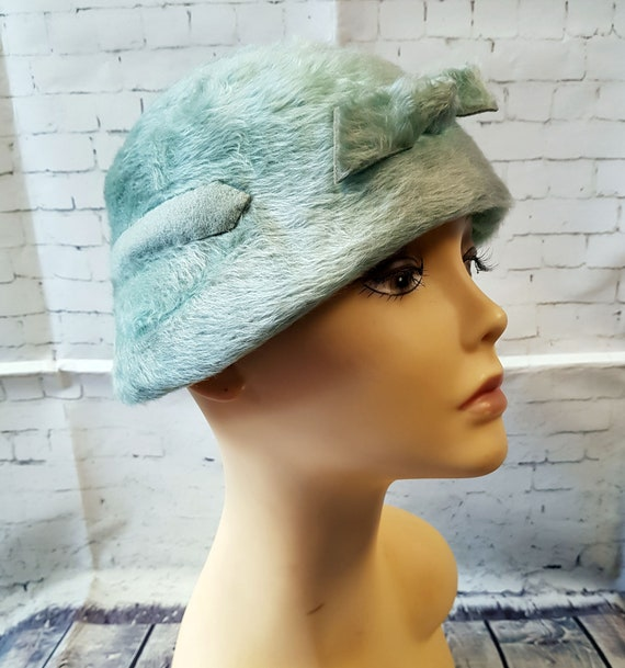 Vintage 1920s Hat | 1920s Vintage Mint Green Cloch