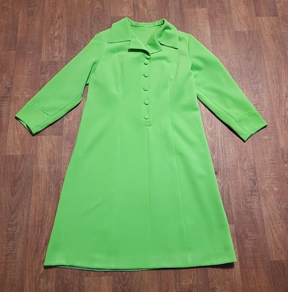 Vintage Dresses | 1960s Vintage Apple Green Mod Dr