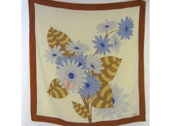 Original Designer Vintage 1970s Gres Paris Floral