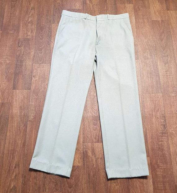 Mens Vintage Farah Trousers, Mens 1970s Vintage Gr