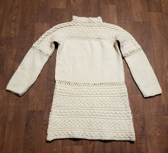 Vintage Jumper | 1970s Vintage Cream Chunky Knit J