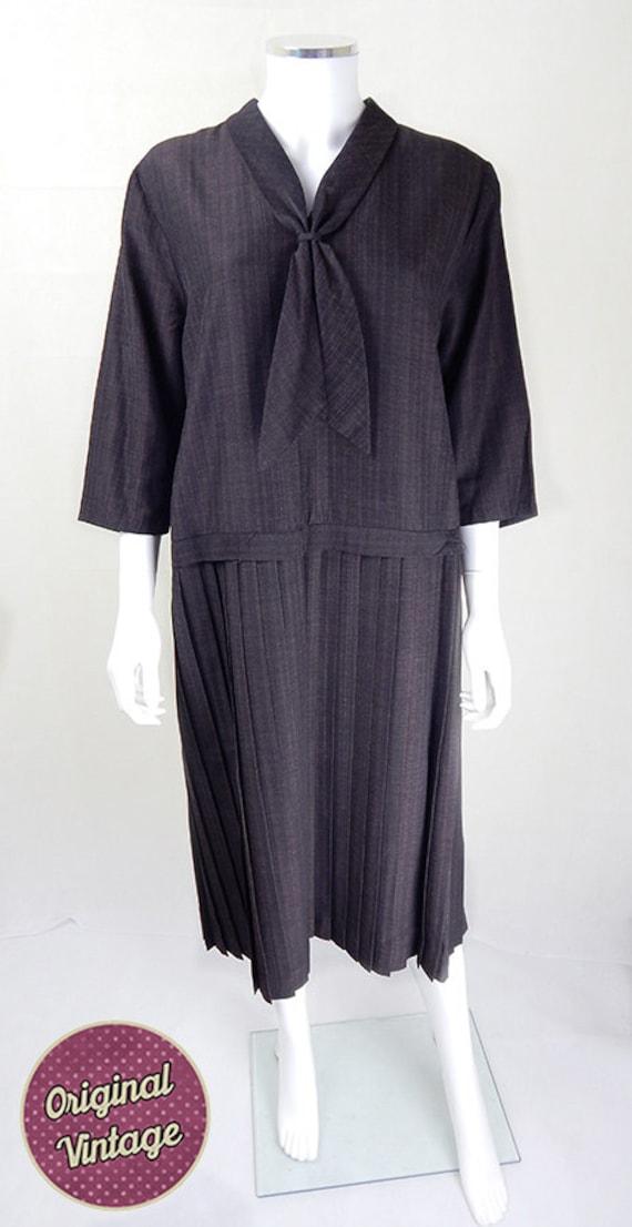 1930s Vintage Dress | Rare 1930s Vintage Brown Sai