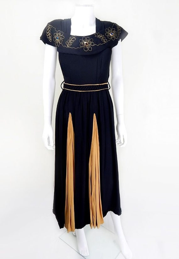 1930s Evening Dress | Stunning 1930s Vintage Blac… - image 6