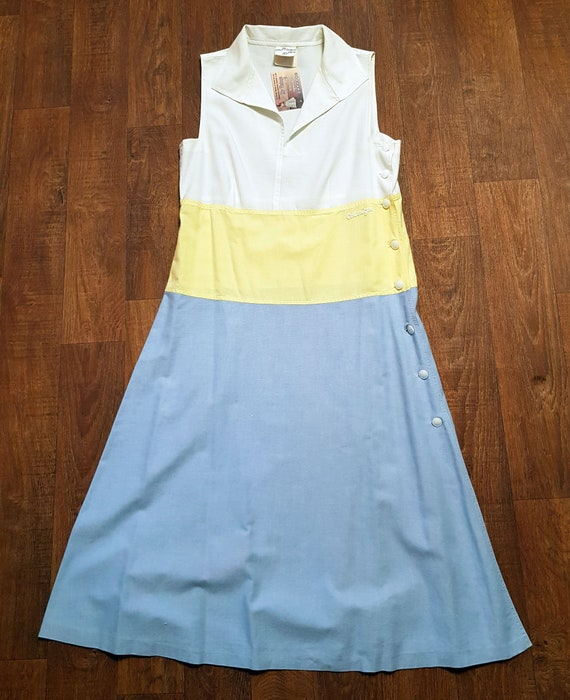 Vintage 1960s Designer Courreges Shift Dress UK Si