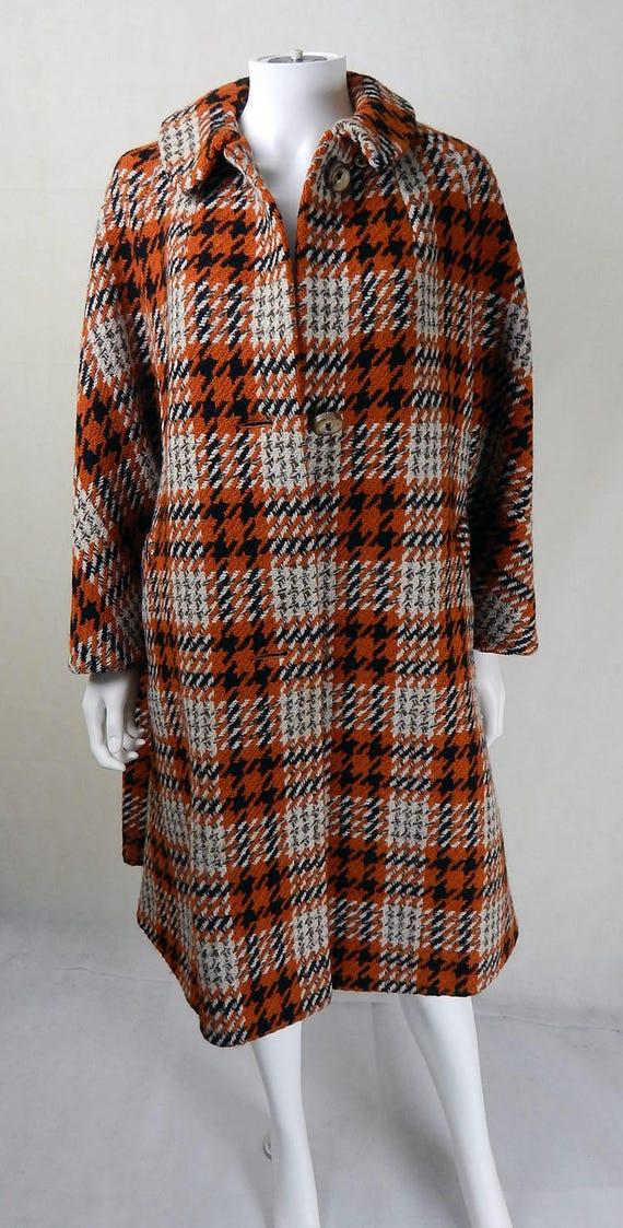 Original 1970s Vintage Aquascutum Wool Coat UK Siz