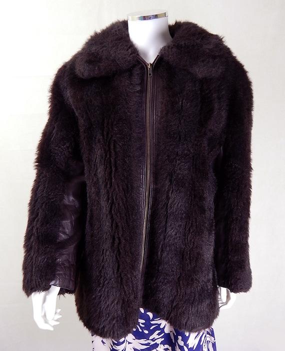 c96b5f4d9d1 Original Vintage 1960s German Leather and Faux Fur Coat UK