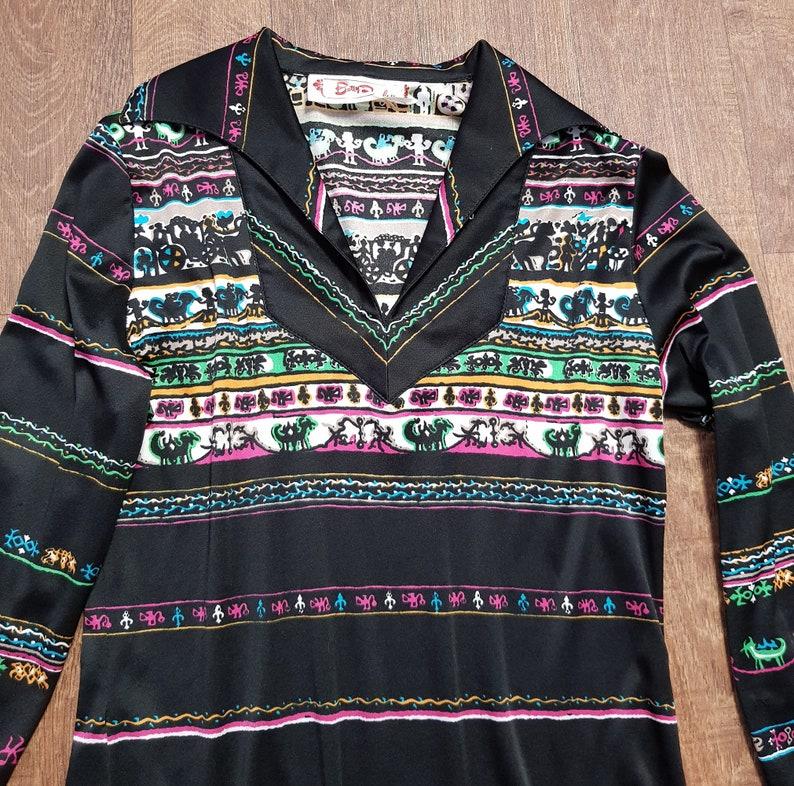 Betty Barclay Vintage Shirt Original 1970s Vintage Betty Barclay Printed Shirt UK Size 12 Eco Friendly Boho Vintage Clothing