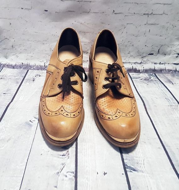 Mens 1970s Vintage Platform Shoes/Brogues UK Size