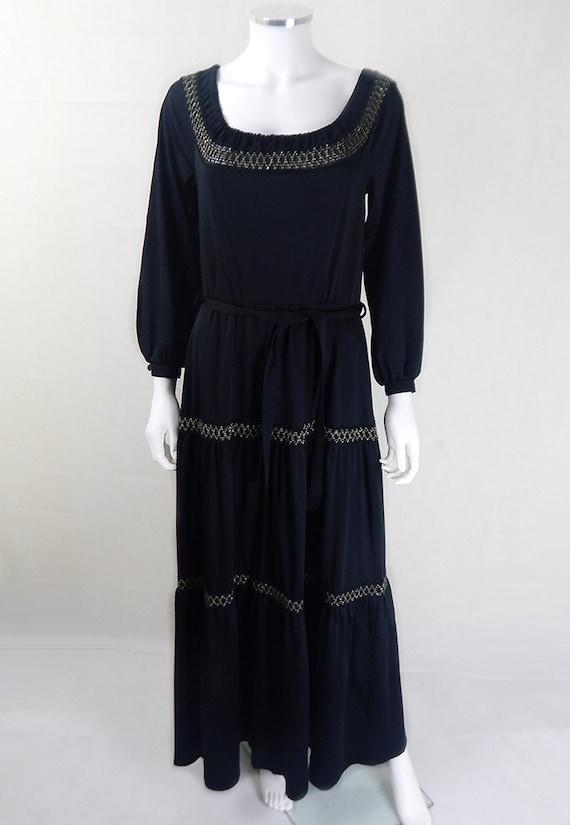 Original Vintage 1970s Betty Barclay Maxi Dress UK
