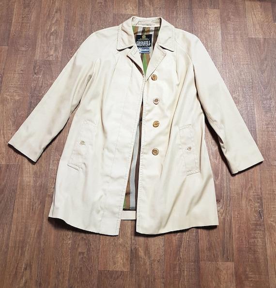 Mens 1960s Vintage Grenfell Fabric Jacket UK Size