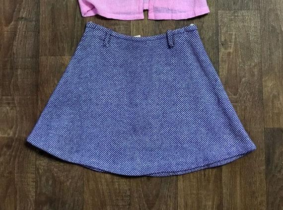 Checkered Mini Skirt Black and White Skirt Houndstooth Mini Skirt Vintage 60/'s Skirt Medium Size Skirt