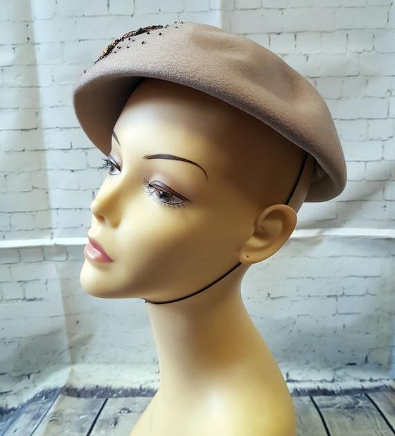 Vintage 1940s Hat   1940s Vintage Jacoll Beaded H… - image 4