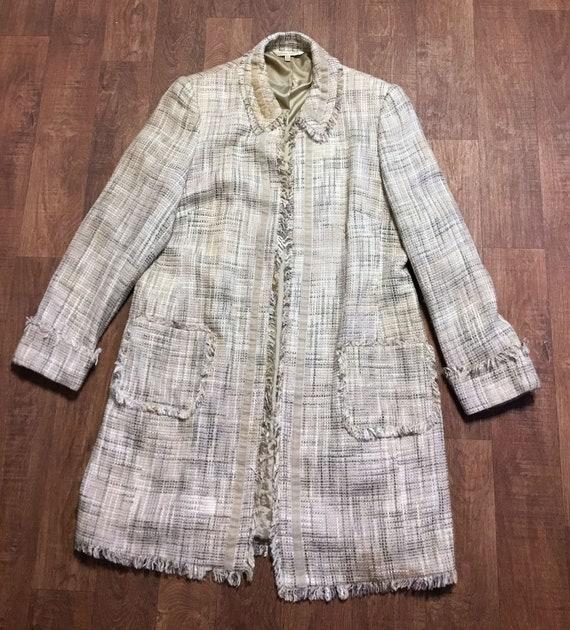 Laura Ashley Vintage Coat | Vintage 1970s Cream/Be
