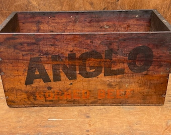 Vintage Anglo Wooden Crate | Rustic Box | Shabby Chic | Planter