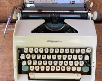 Vintage 1960s Olympia De Luxe Typewriter | Working | Case w/ Key & Ribbon Included| College Student Gift | Aspiring Writer