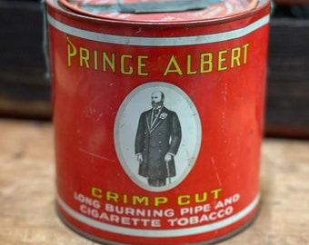 Vintage Prince Albert Red Tobacco Tin | Antique Tin | Shabby Chic Decor